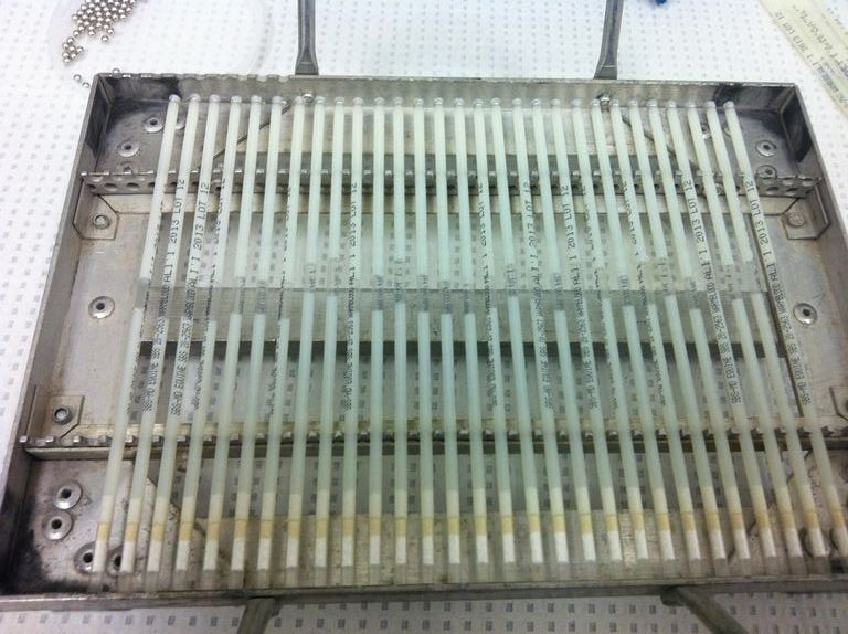 The Test Freeze - Straws on Rack